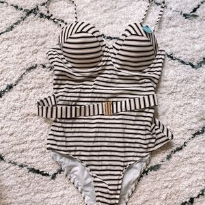 Marks and Spencer Striped One Piece Swimsuit